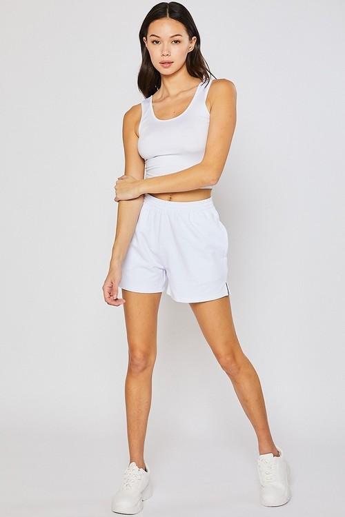 Fleece Shorts White