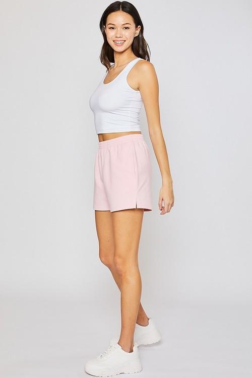 Fleece Shorts Pink