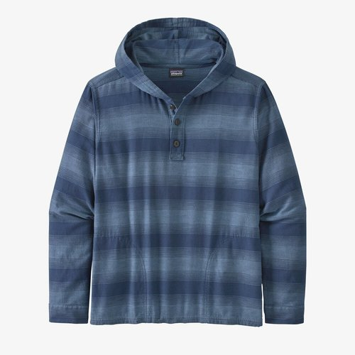 Patagonia M's LW Fjord Flannel Hoody Hoizon Hombre: Stone Blue