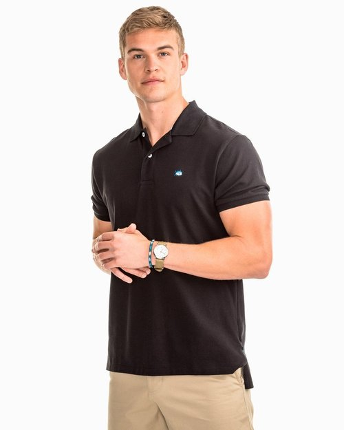 Southern Tide M SS Skipjack Polo Midnight Black