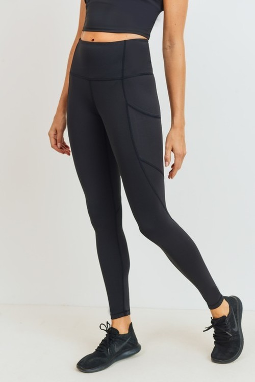Solid & Slanted Highwaist Leggings Black