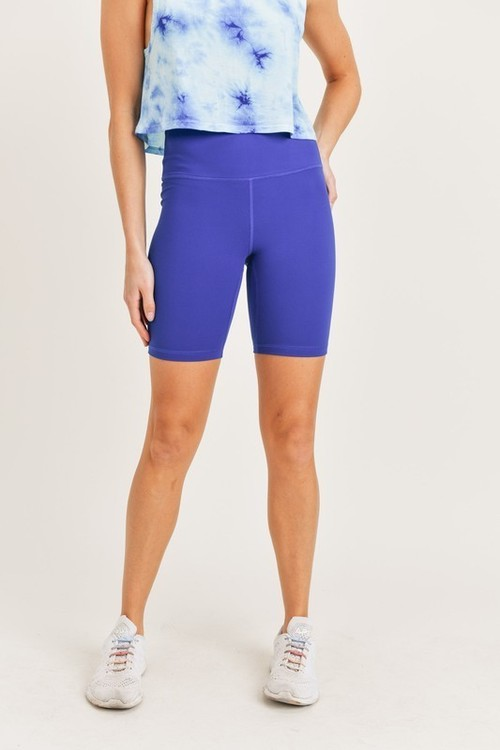Highwaist Biker Shorts Royal Blue
