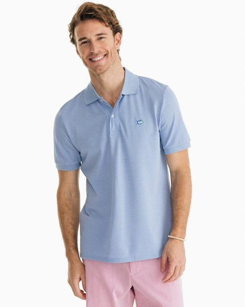 Southern Tide Hurricane Blue JackHthr Perf Polo