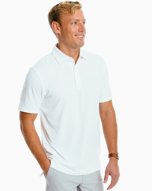 Southern Tide M SS Ryder Perf Polo Classic White