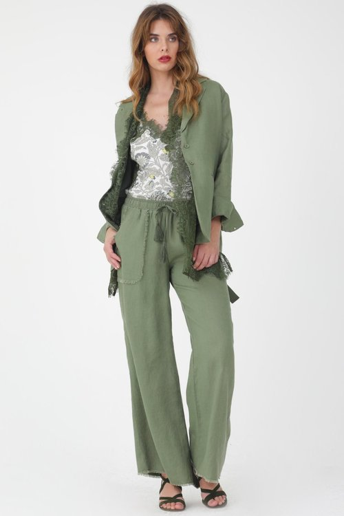Frayed Linen Pants