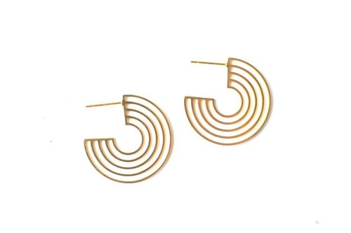 Cleopatra Hoops Gold