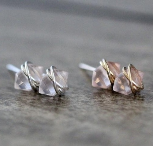 Pike Studs Rose Quartz