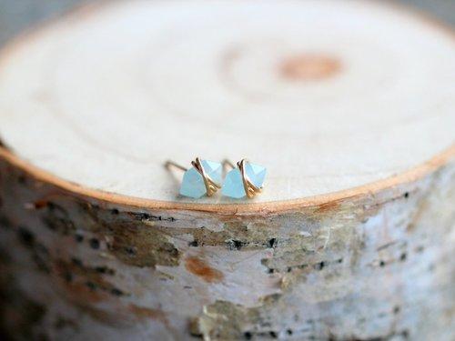 Pike Studs Aquamarine