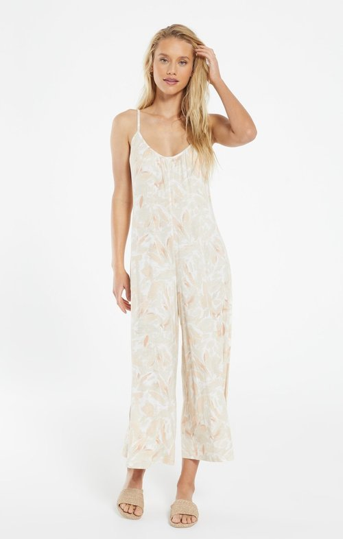 Summerland Floral Jumpsuit Sun Tan
