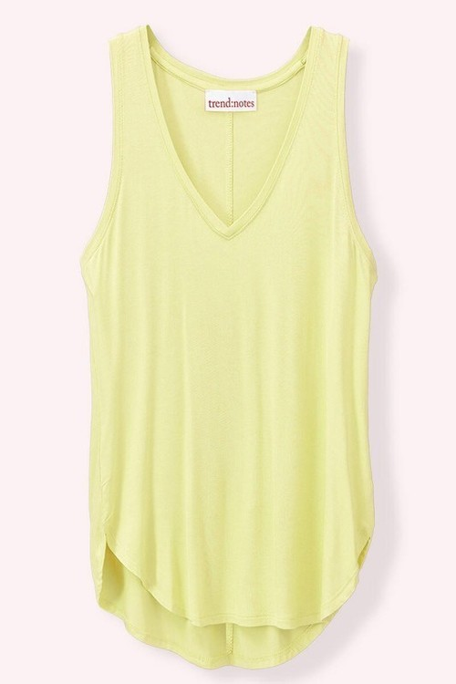 Solid V-Neck Favorite Tank Top Sage Green