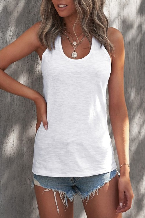 Everyday Essential Racerback Tank White