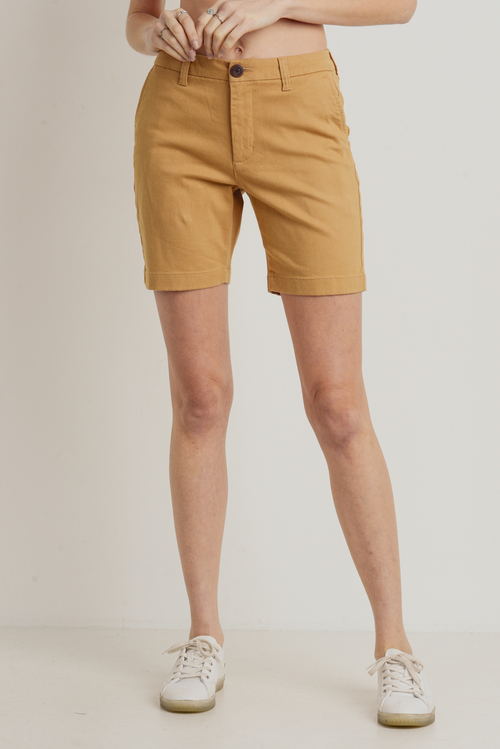 Stretch Chino Shorts Camel