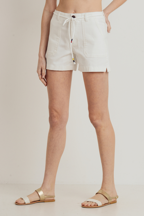 Optic White Stretch Cargo Shorts