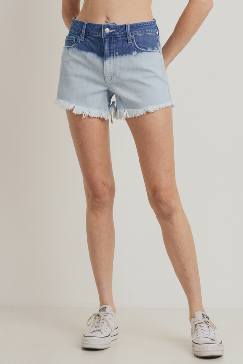 Bleached Ombre Shorts Light