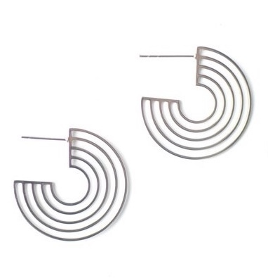 Cleopatra Hoops Silver