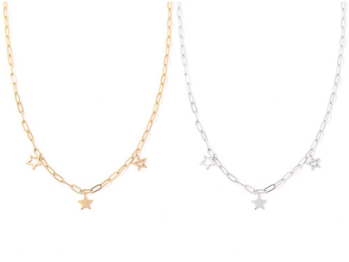 Multi Star Charm Chain Necklace