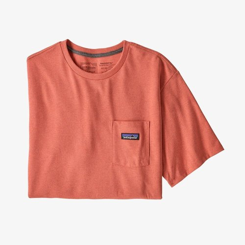 Patagonia M's P-6 Label PKT Tee Coho Coral