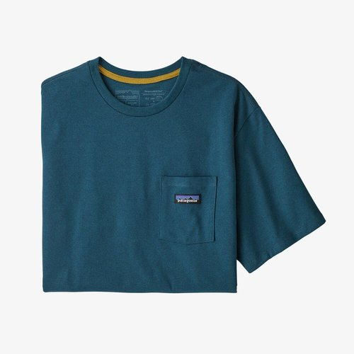 Patagonia M's P-6 Label PKT Tee Abalone Blue