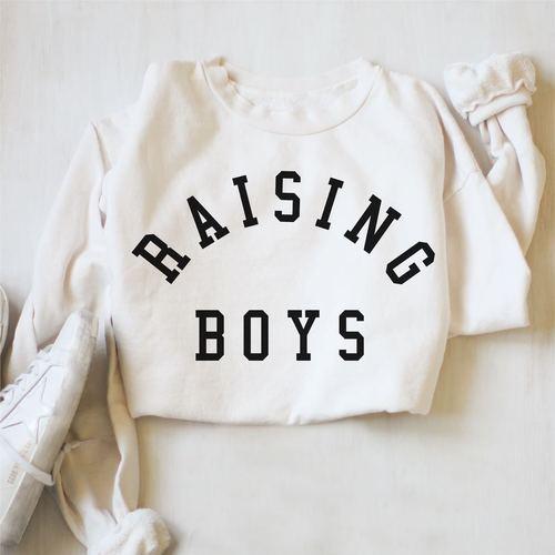 Raising Boys Pullover Powder