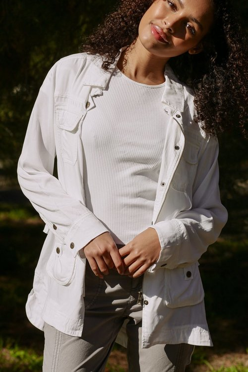 Cupro Anorak Jacket