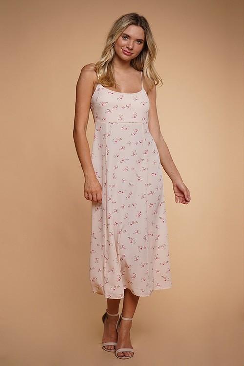 Rose Printed Maxi Dress