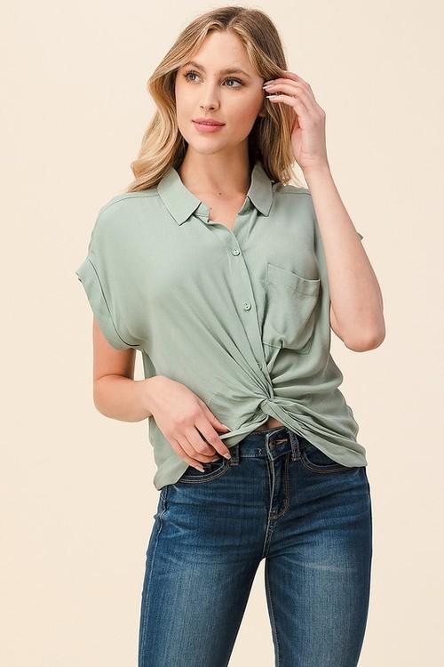 Sage Button Up Shirt