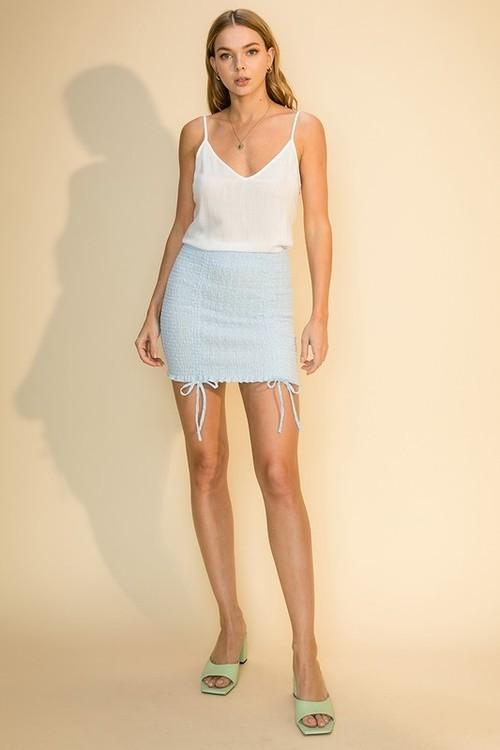 Woven Skirt Light Blue