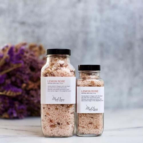 Lemon Rose 8 oz Bath Salt