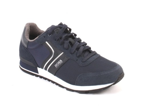 Navy Parkour Runn Lace-Up Low-Top Sneakers Shoes
