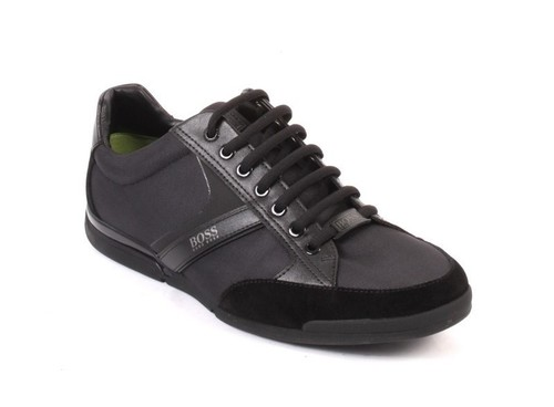 Saturn Black Lace-Up Low-Top Sneakers Shoes