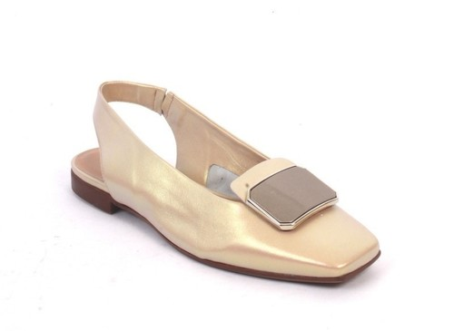 Multicolor Square Toe Slingback Buckle Sandals