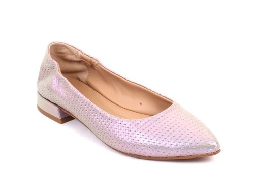 Multicolor Stamped Leather / Pointy Toe / Ballet Flats