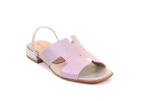 Multicolor Leather Slingbacks Comfort Sandals