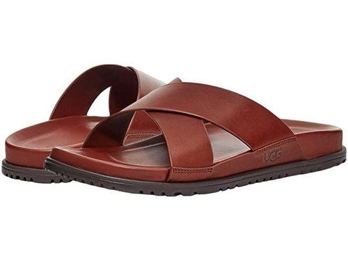 UGG M Wainscott Slide Cognac Leather