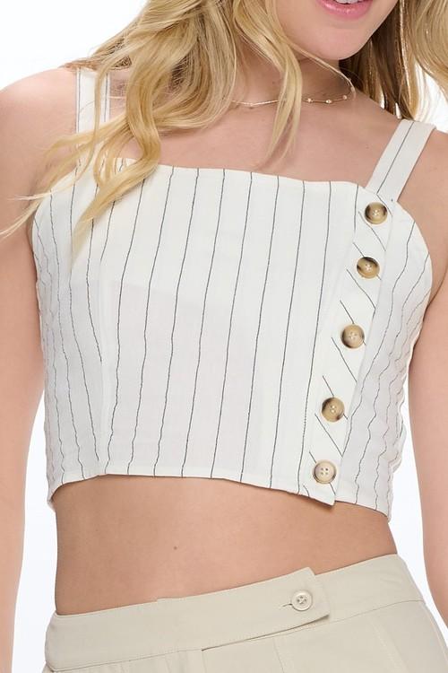 Icebird Side Button Crop White