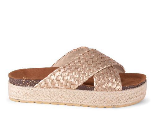 Wanted Hampton Espadrille Flatform Light Gold Sandals