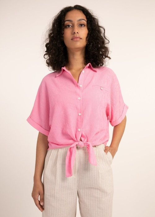 Candys Tie Front Top Rose