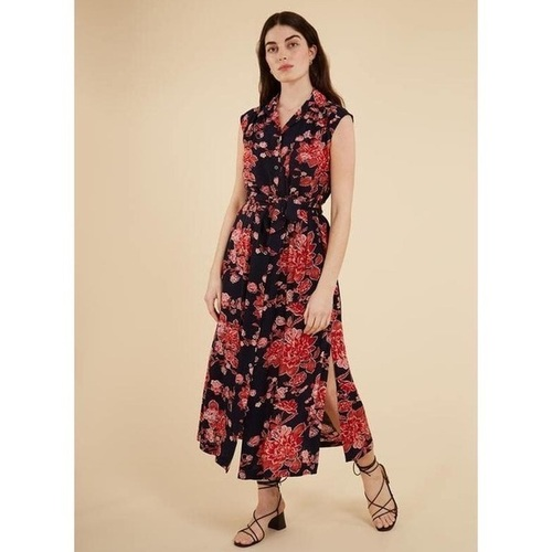 Annlyse Floral Print Dress Red