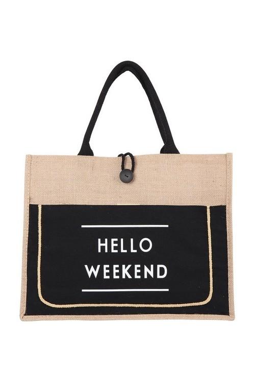 Hello Weekend Tote Black
