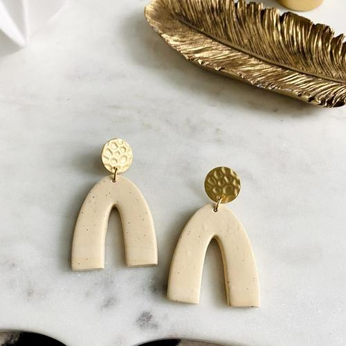 Arches Sand Print Earrings