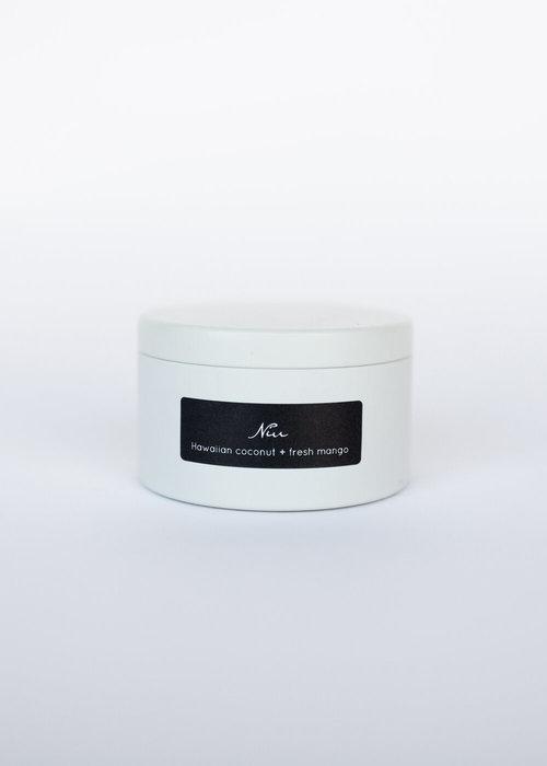 French Wicks 10 oz Niu Cream Tin Candle