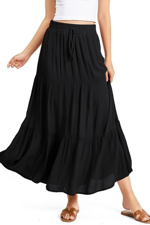 Tempo Maxi Skirt Black