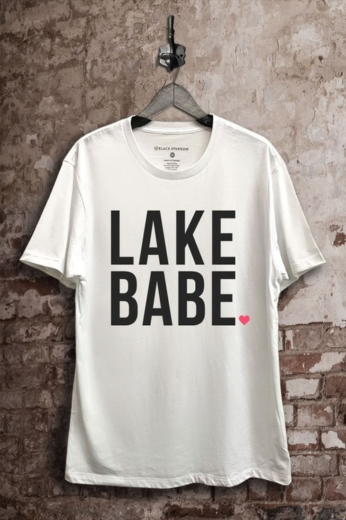 Lake Babe Graphic Tee White