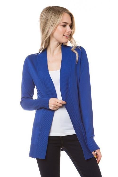 Essential Cardigan Royal Blue