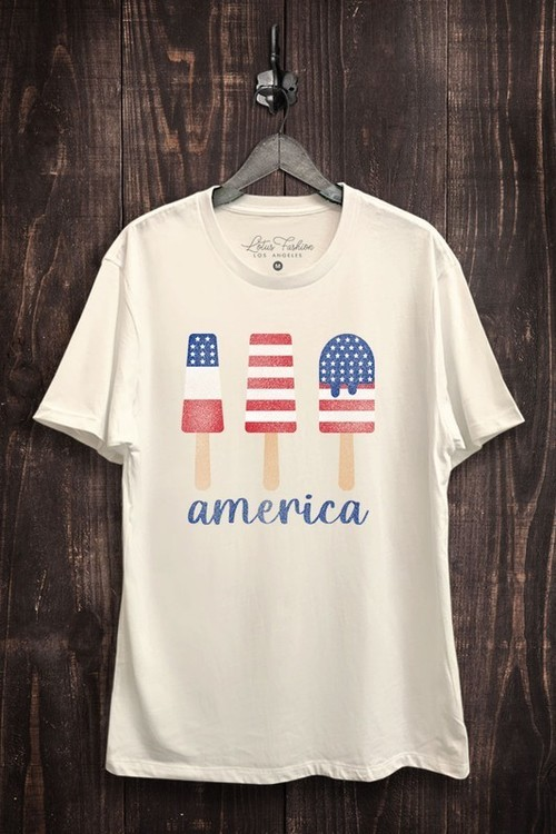 American Popsicle Graphic Tee Ivory