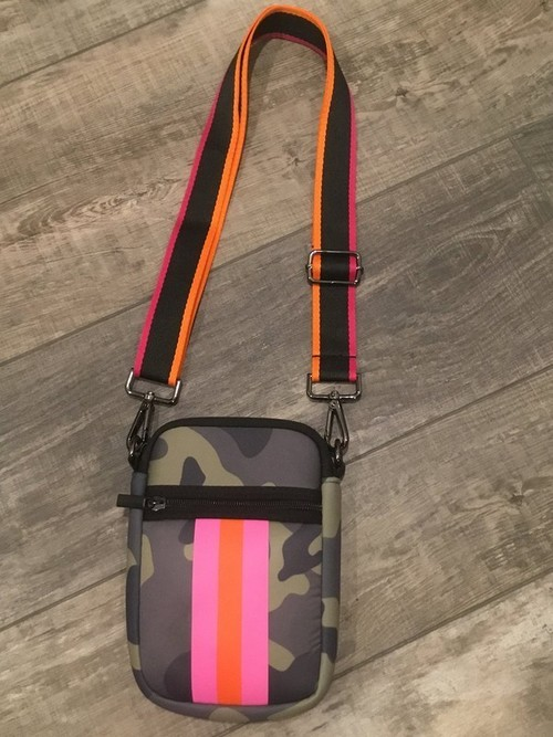 Camo Phone Holder Pink & Orange Stripe