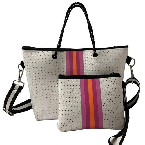 Mini Tote Crossbody Bag White