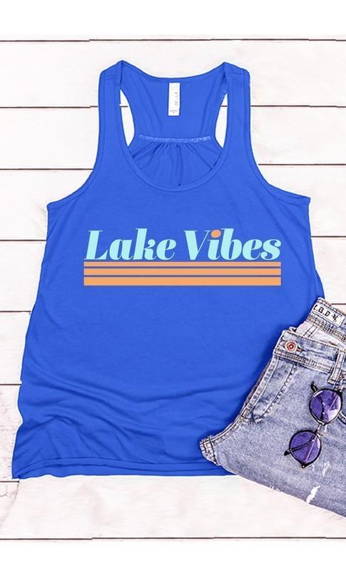 Lake Vibes Graphic Tank Royal Blue