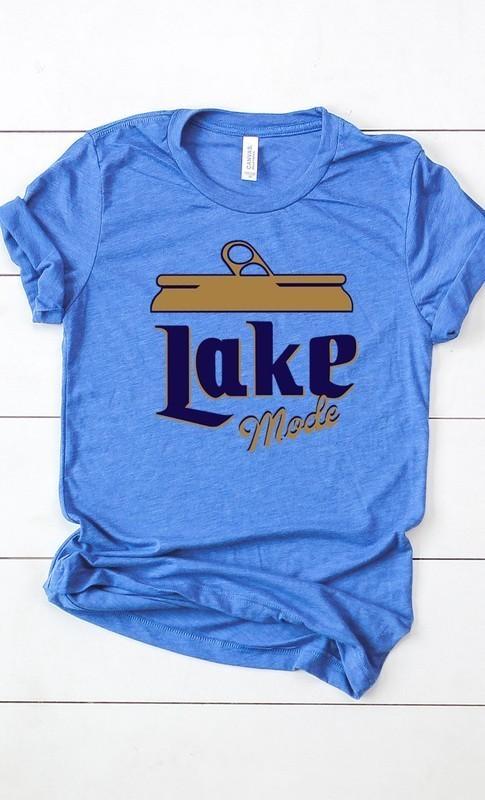 Lake Mode Beer Graphic Tee Royal Blue