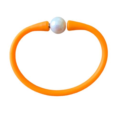 Maui Bracelet Freshwater Pearl- Tangerine